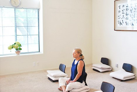 a woman practicing relaxation meditation